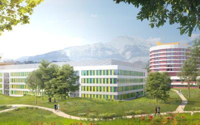 Chantier de l'agrandissement de l'hôpital de Sion 06.2021