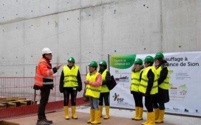 Visites en groupe du chantier de l'extension de l'hôpital de Sion