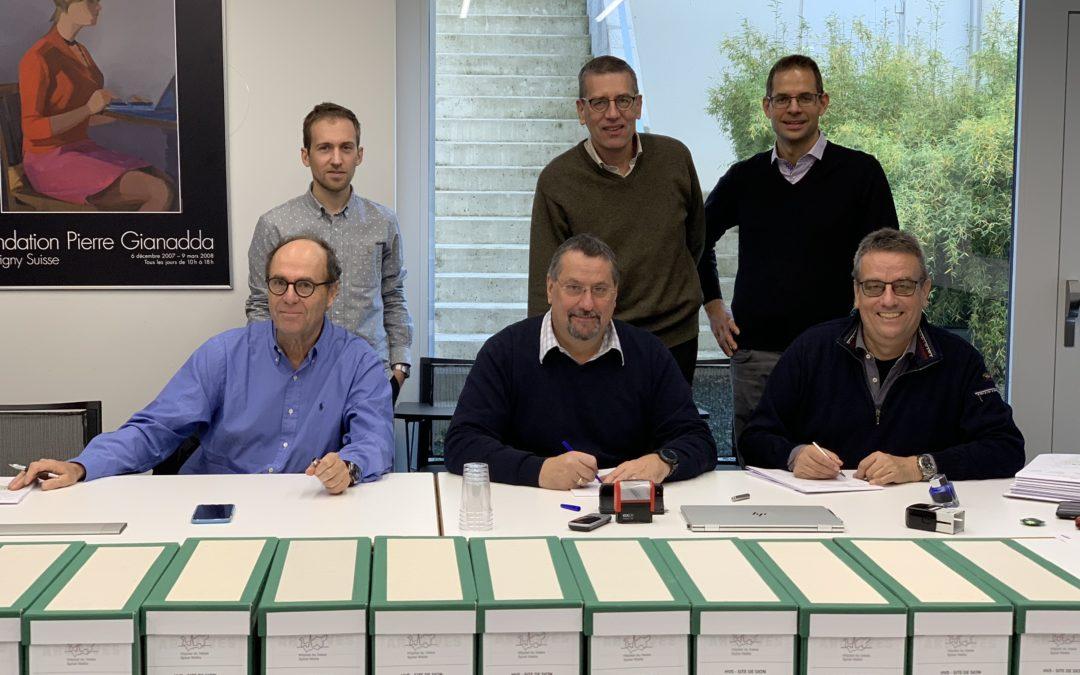 Signature des plans d'agrandissement et de transformation de l'hôpital de Sion au 12.2018
