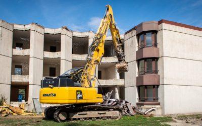 Démolition de l'ancien bâtiment du personnel de l'hôpital de Sion